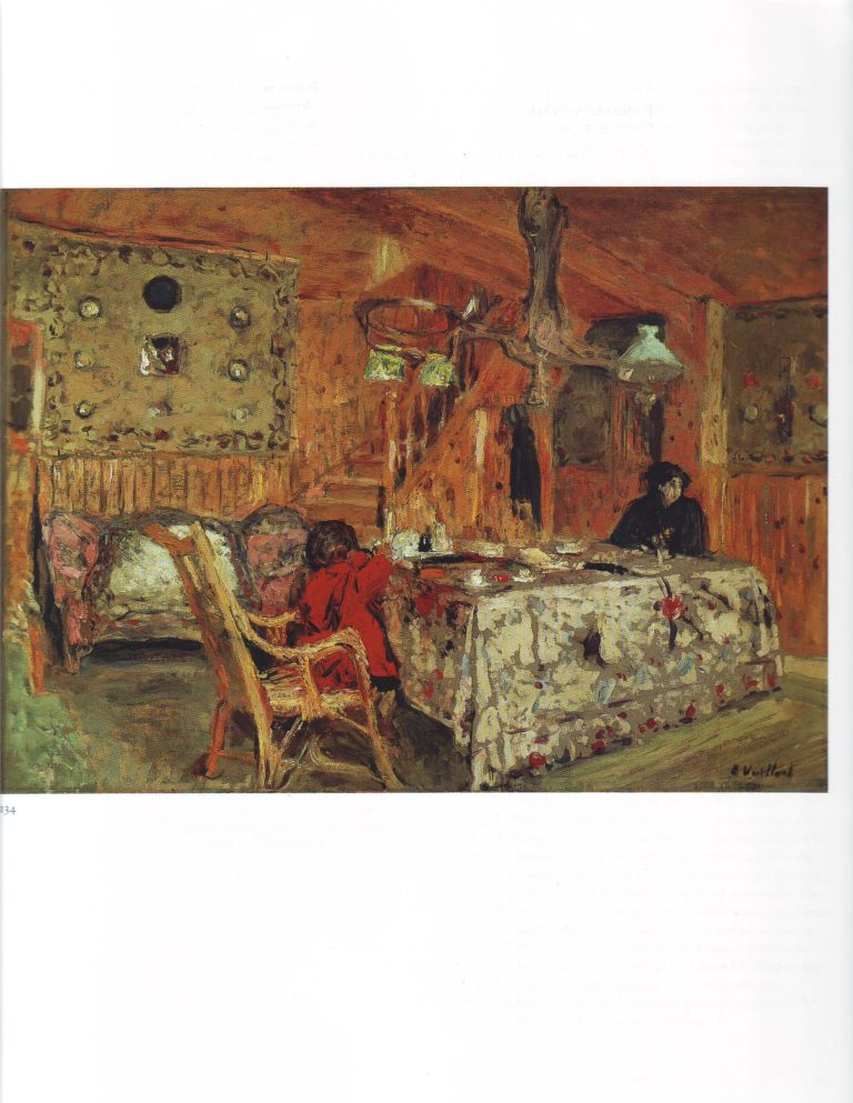 The pitch pine room | Edouard Vuillard | oil painting