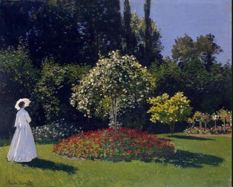 Woman in the Garden. Sainte-Adresse | Monet Claude | oil painting