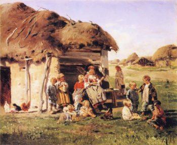 The Village Children | Vladimir Yegorovich Makovsky | oil painting