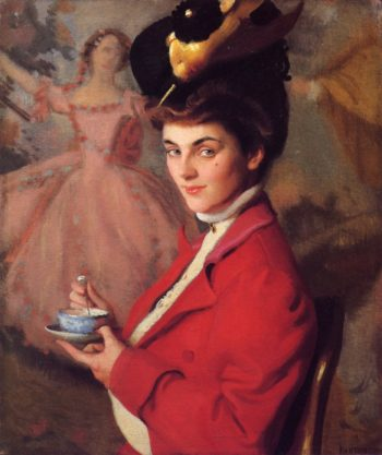 Cherry (also known as The Gay Nineties) | William MacGregor Paxton | oil painting