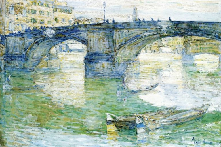 Ponte Santa Trinita | Frederick Childe Hassam | oil painting