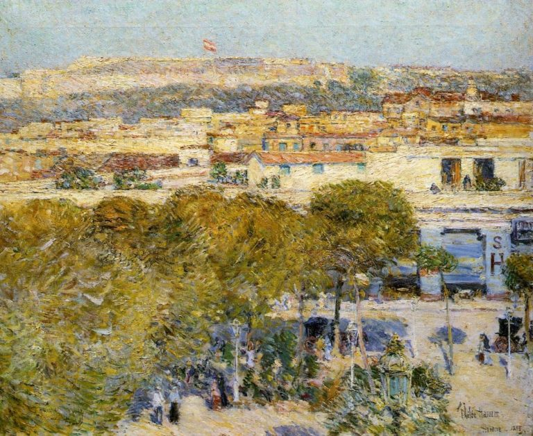 Place Centrale and fort Cabanas, Havana Frederick Childe Hassam