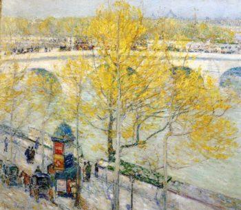 Pont Royal, Paris Frederick Childe Hassam
