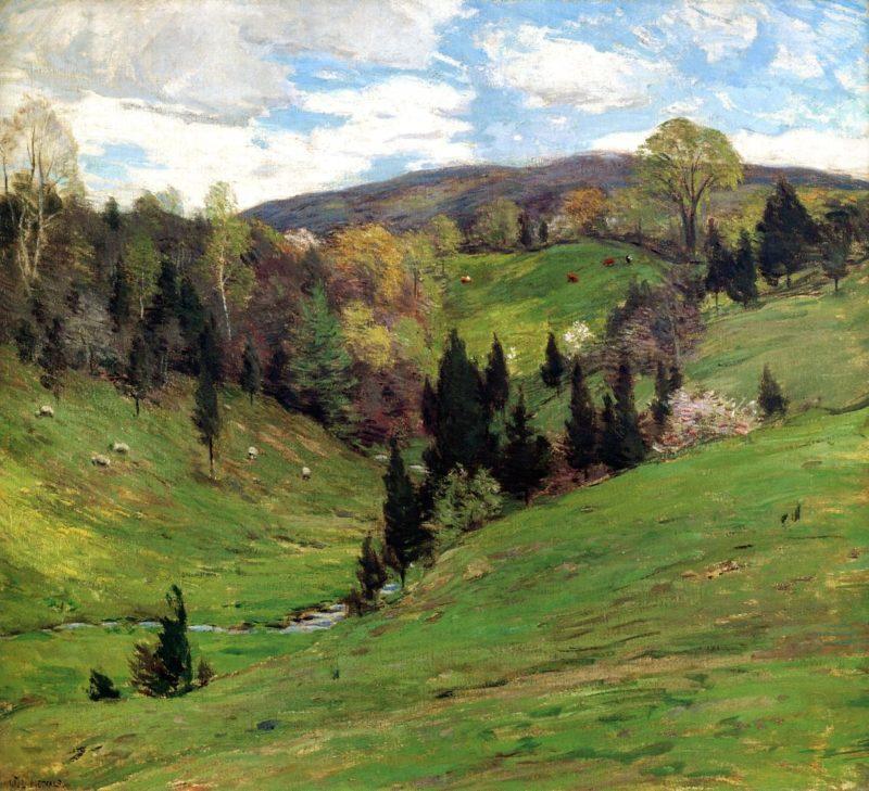 Flying Shadows 1909   Willard Leroy Metcalf   oil painting