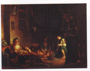 Algerian women in their apartment | Eugene Delacroix | oil painting
