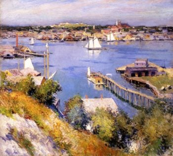 Gloucester Harbor 1895 | Willard Leroy Metcalf | oil painting