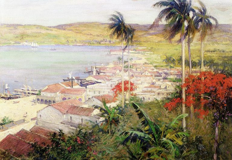 Havana Harbor 1902 | Willard Leroy Metcalf | oil painting