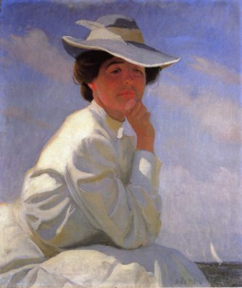 In the Sunlight Portrait of the Artists Wife | William MacGregor Paxton | oil painting