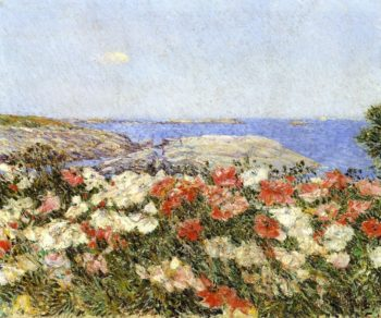 Poppies on the Isles of Shoals | Frederick Childe Hassam | oil painting