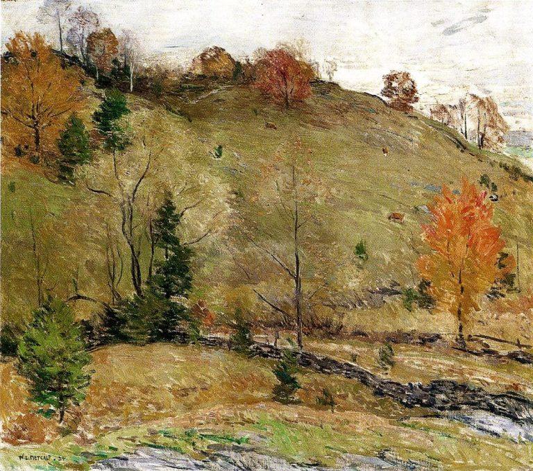Hillside Pasture 1924 | Willard Leroy Metcalf | oil painting