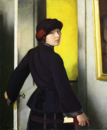 Leaving the Studio | William MacGregor Paxton | oil painting