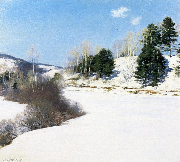 Hush of Winter 1911 | Willard Leroy Metcalf | oil painting