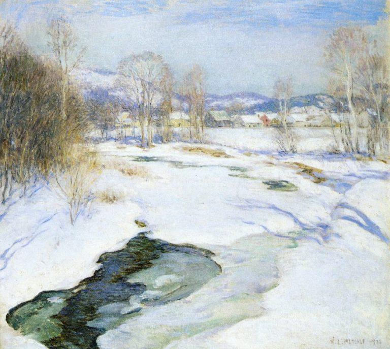 Icebound Brook 1922 | Willard Leroy Metcalf | oil painting