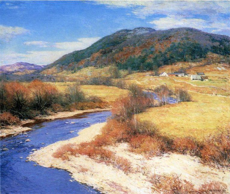 Indian Summer Vermont 1822 | Willard Leroy Metcalf | oil painting