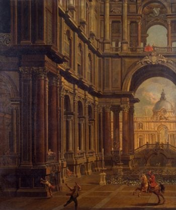 Architectural Perspective | Moretti Pietro | oil painting