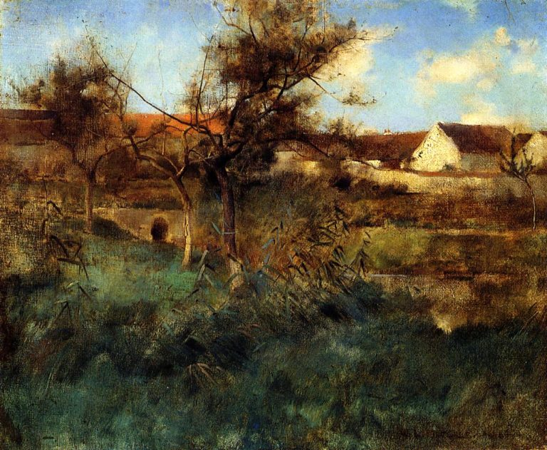 Landscape 1884 | Willard Leroy Metcalf | oil painting