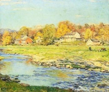 Late Afternoon in October 1920 | Willard Leroy Metcalf | oil painting