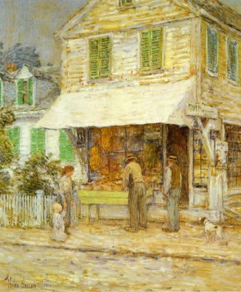 Provincetown Grocery Store | Frederick Childe Hassam | oil painting