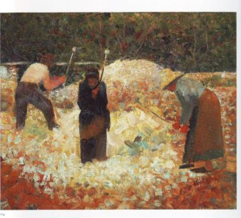 The stone breakers | Georges Pierre Seurat | oil painting