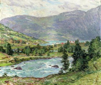 Mountain Lakes Olden Norwas 1913 | Willard Leroy Metcalf | oil painting