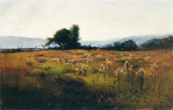 Mountain View from High Field 1877 | Willard Leroy Metcalf | oil painting