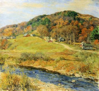 November Mist 1922 | Willard Leroy Metcalf | oil painting