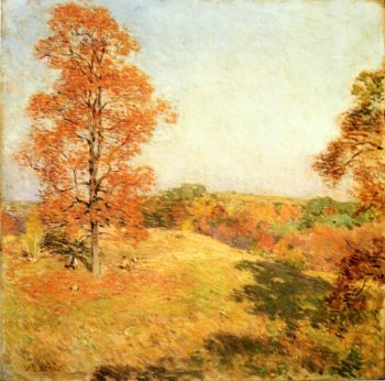 Nut Gathering 1922 | Willard Leroy Metcalf | oil painting