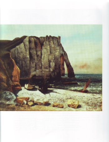 Cliff at Etretat the porte d'aval | Gustave Courbet | oil painting