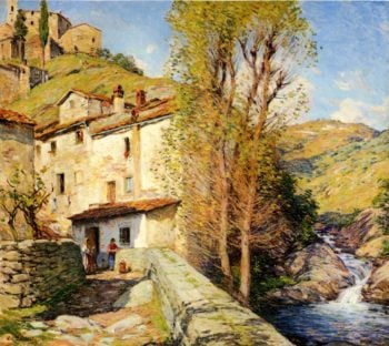 Old Mill Pelago Italy 1913 | Willard Leroy Metcalf | oil painting