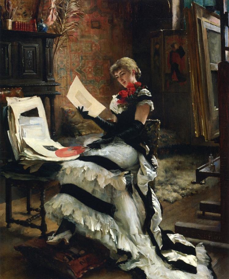 Chez Artiste (also known as Les Gravures) | Albert Edelfelt | oil painting