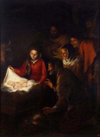 Adoration of the Shepherds | Murillo Bartolome Esteban | oil painting