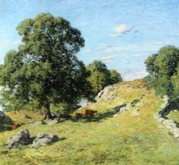 Pasture Old Lyme 1906 | Willard Leroy Metcalf | oil painting