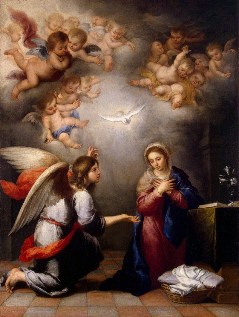 Annunciation | Murillo Bartolome Esteban | oil painting
