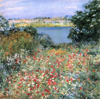 Poppy Garden 1905 | Willard Leroy Metcalf | oil painting