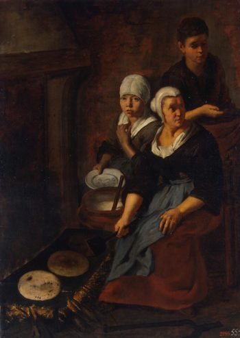 Baking of Flat Cakes | Murillo Bartolome Esteban | oil painting