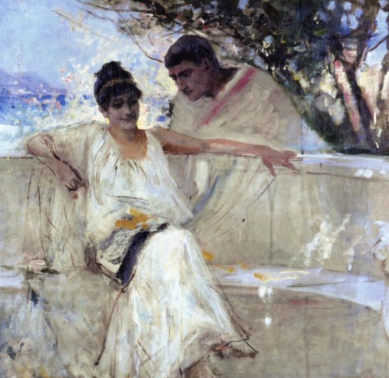 Horace and Lydia (study) | Albert Edelfelt | oil painting