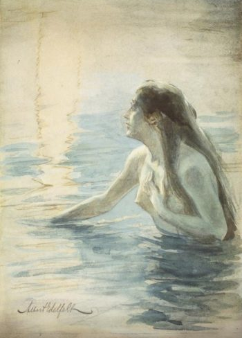 In the water | Albert Edelfelt | oil painting