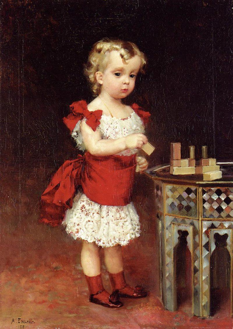 Portrait of Grand Duke Andrei Vladimirovich as a Child | Albert Edelfelt | oil painting