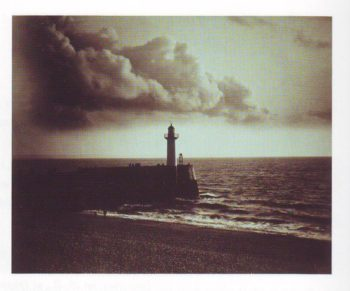 Lighthouse and jetty | Gustave Le Gray | oil painting