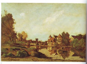 A farmhouse | Henri Joseph Harpignies | oil painting