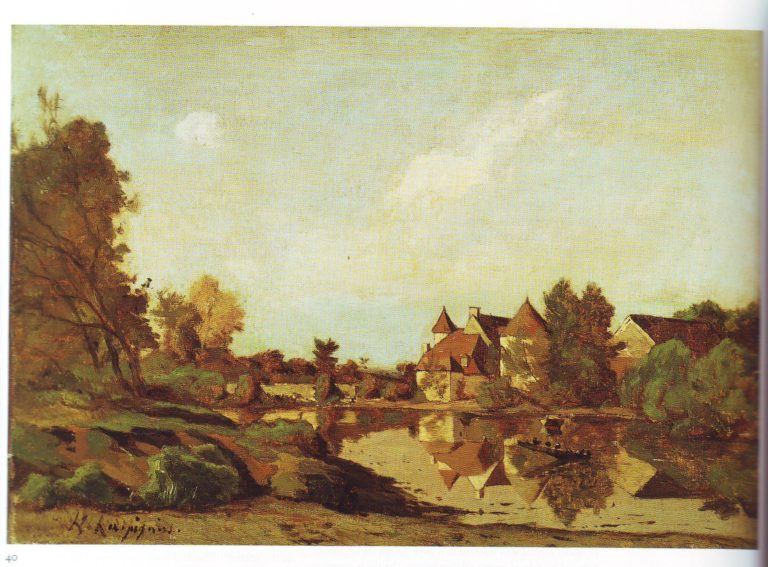 A farmhouse | Henri Joseph Harpignies | oil painting