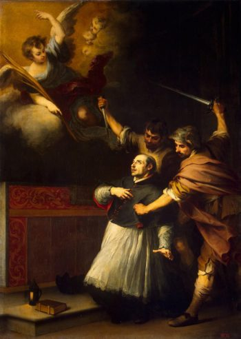 Death of the Inquisitor Pedro de Arbues | Murillo Bartolome Esteban | oil painting