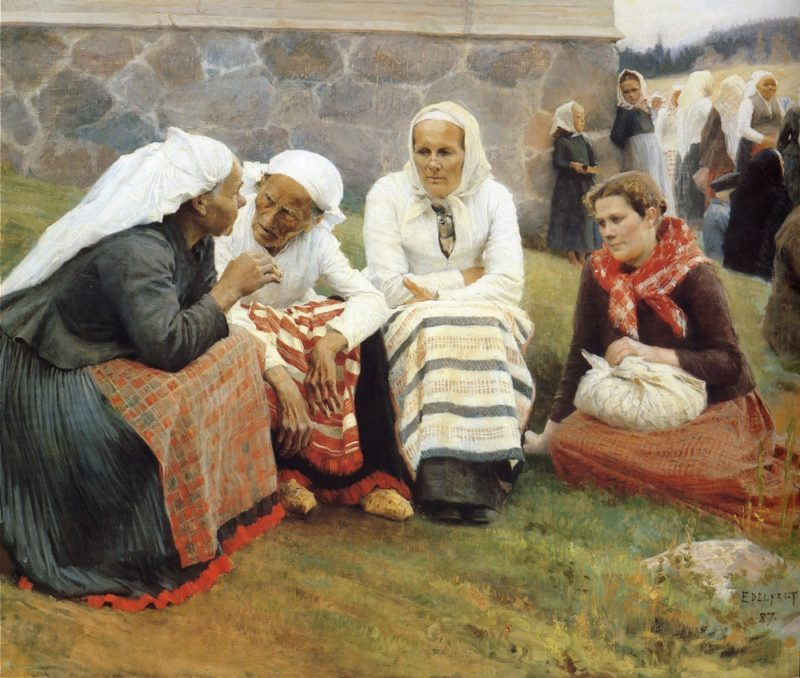 The gossip   Albert Edelfelt   oil painting
