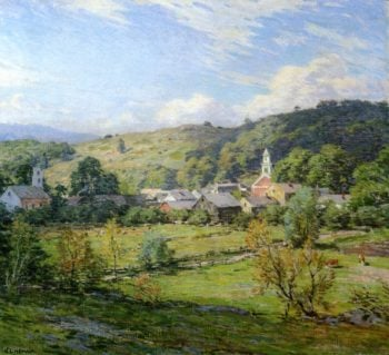 September Morning Plainfield New Hampshire 1911 | Willard Leroy Metcalf | oil painting
