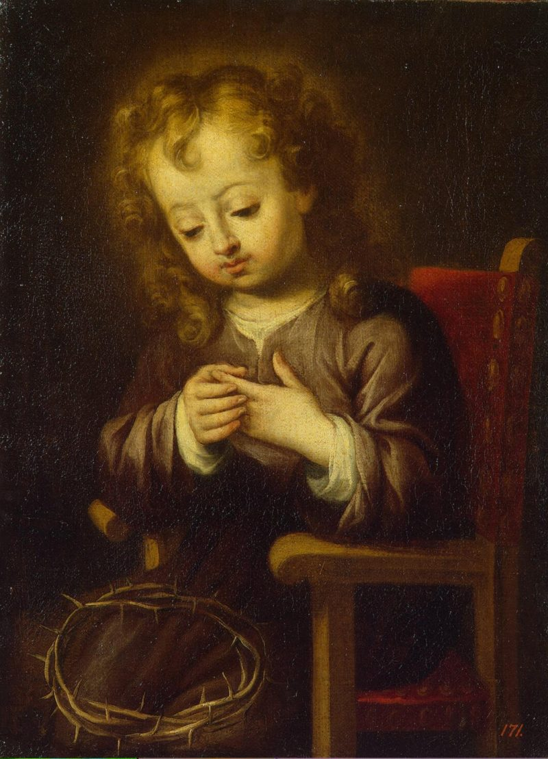 Infant Christ Pricked with the Crown of Thorns | Murillo Bartolome Esteban | oil painting