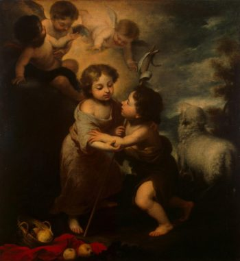 Infant Jesus and St John | Murillo Bartolome Esteban | oil painting