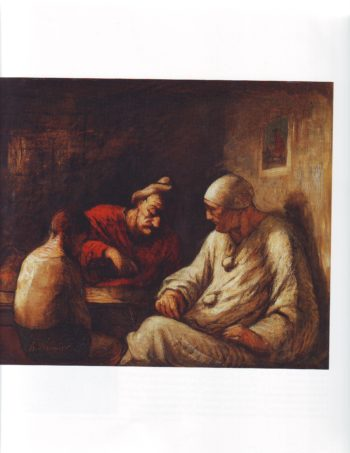Saltimbanques resting | Honore Daumier | oil painting