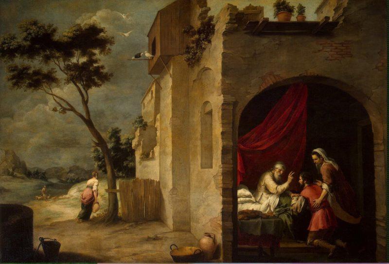 Isaac Blessing Jacob | Murillo Bartolome Esteban | oil painting