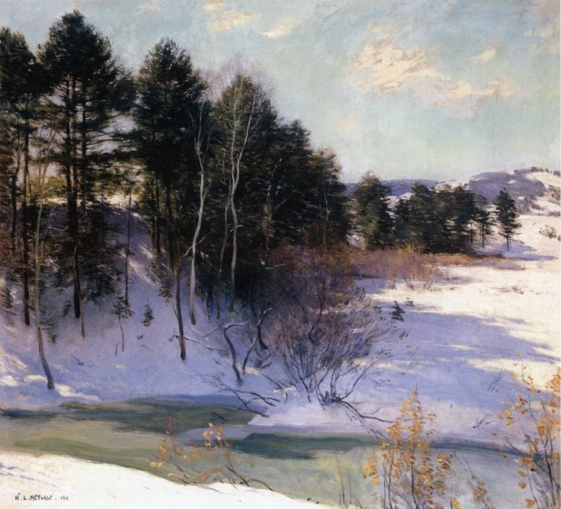 Thawing Brook 1911 | Willard Leroy Metcalf | oil painting