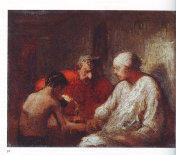 Study for saltimbanques resting | Honore Daumier | oil painting